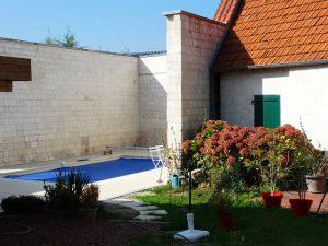 Gite du petit Colombier à Arras : la piscine chauffée